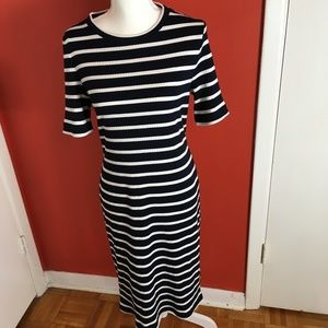 Banana Republic ladies navy & white stripe dress